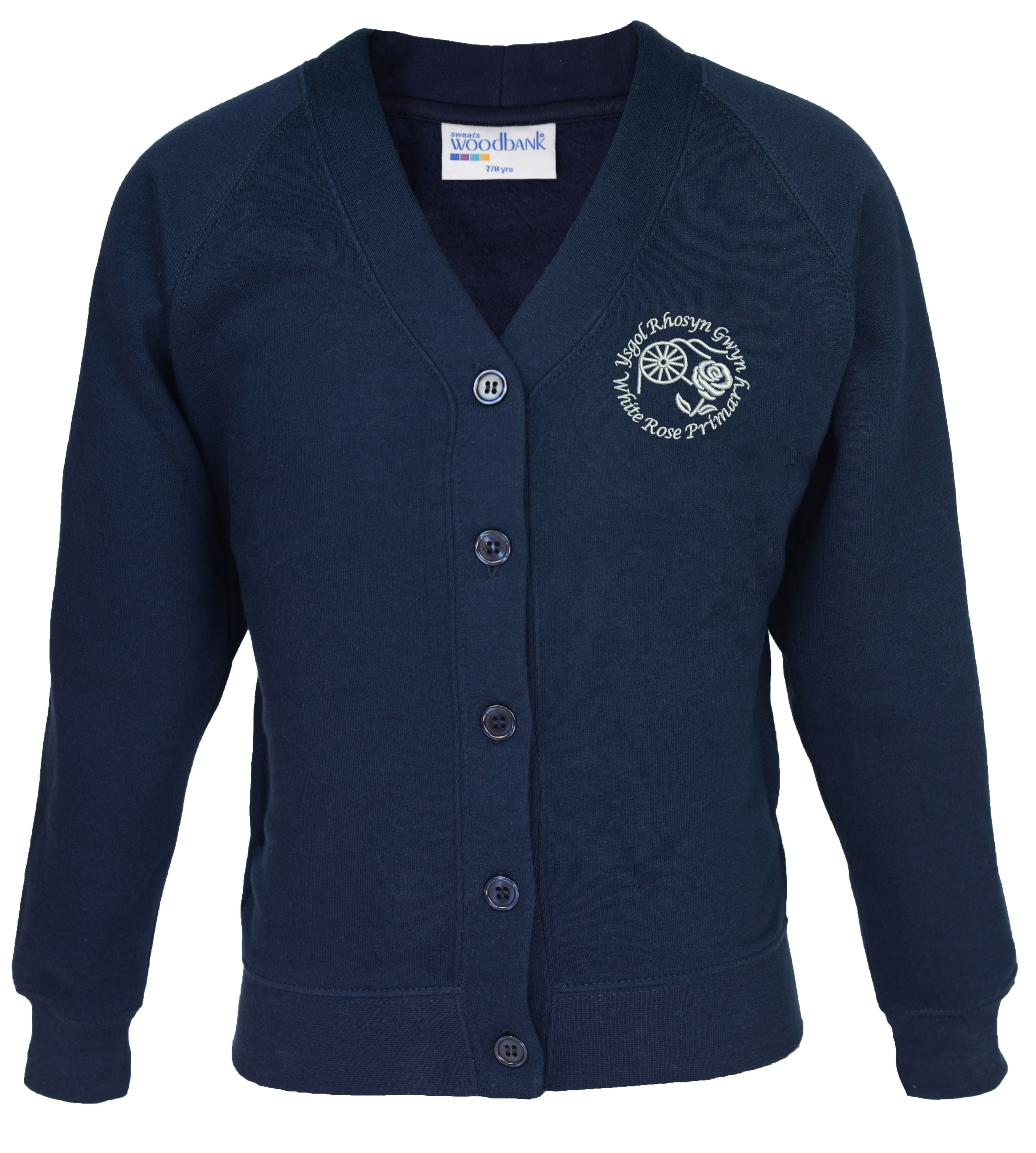 White Rose Primary Cardigan