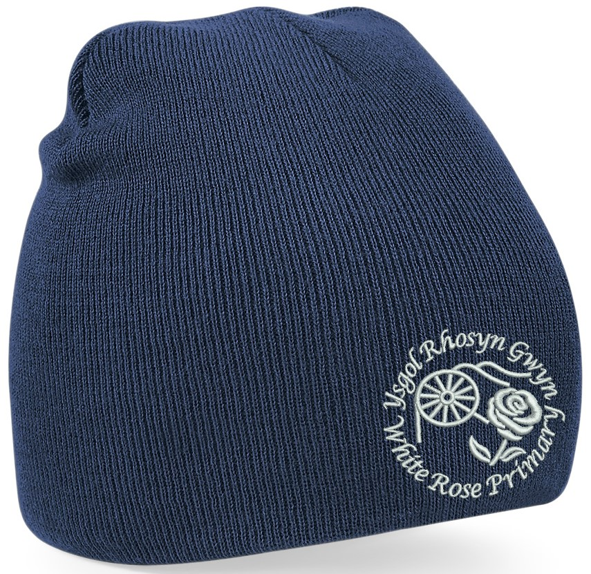 White Rose Primary Knitted Hat